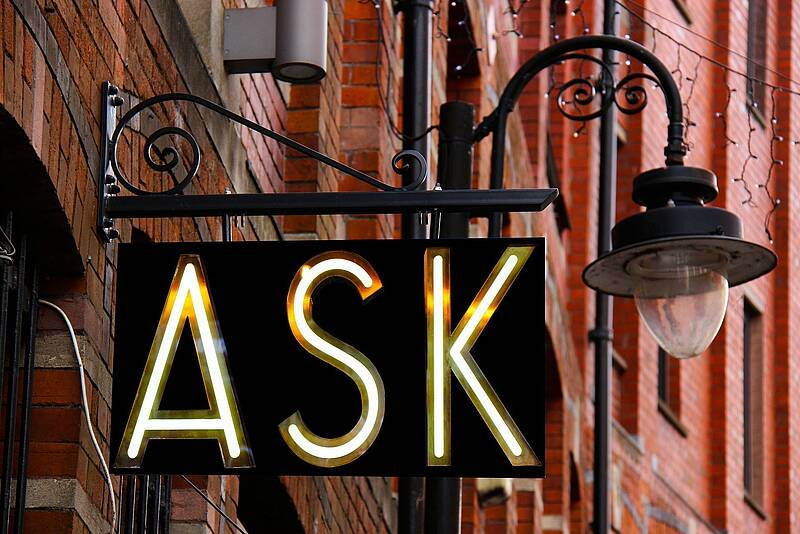 "Ladenschild ""Ask"""