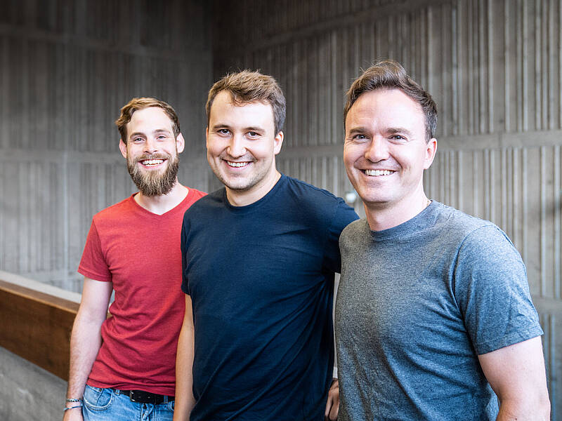 Peter Schrott, Johannes Linowski and Dr. Hannes Kübel from Foodly (from left to right)