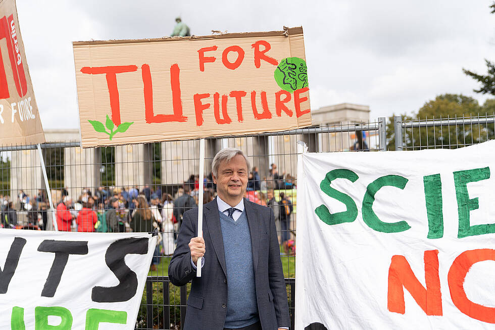 Prof. Dr. Christian Thomsen bei der  Fridays for Future Demo 20.09.2019
