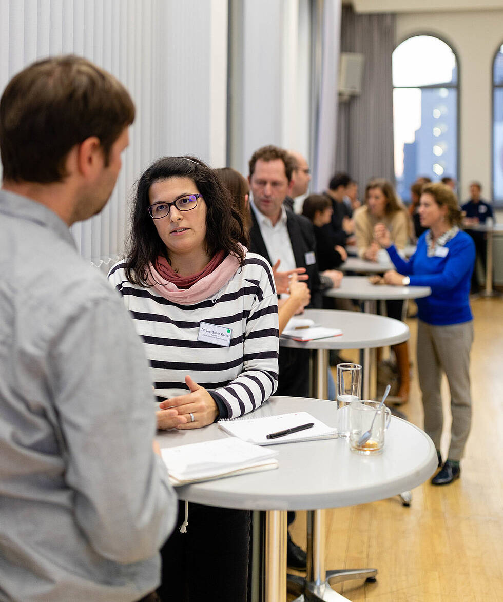 TU Berlin scientists at a speed-dating event