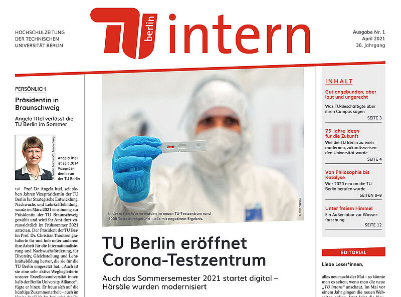 Cover der TU intern